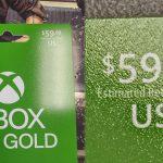 microsoft xbox live gold price