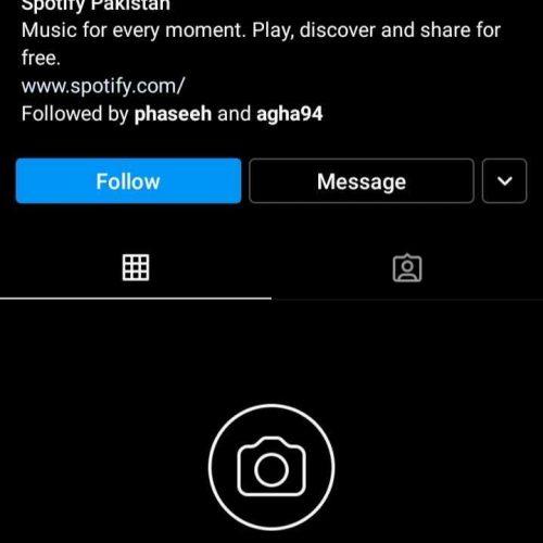 SpotifyPakistan Joins Instagram